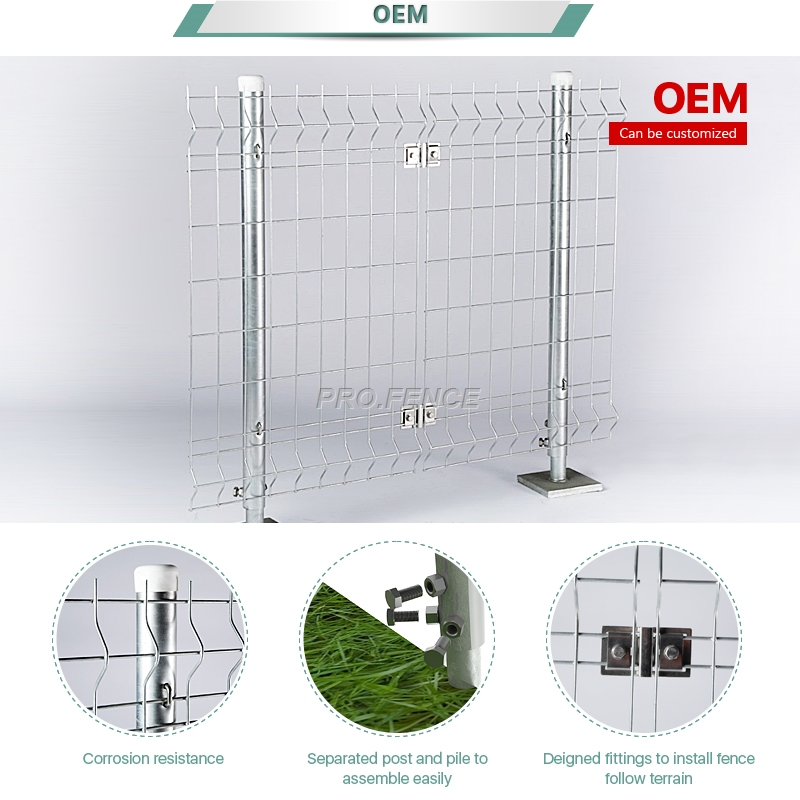 M-shaped welded mesh fence