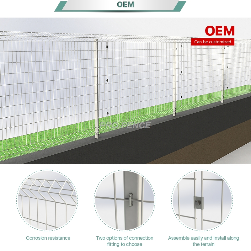 L-shaped welded wire mesh fence