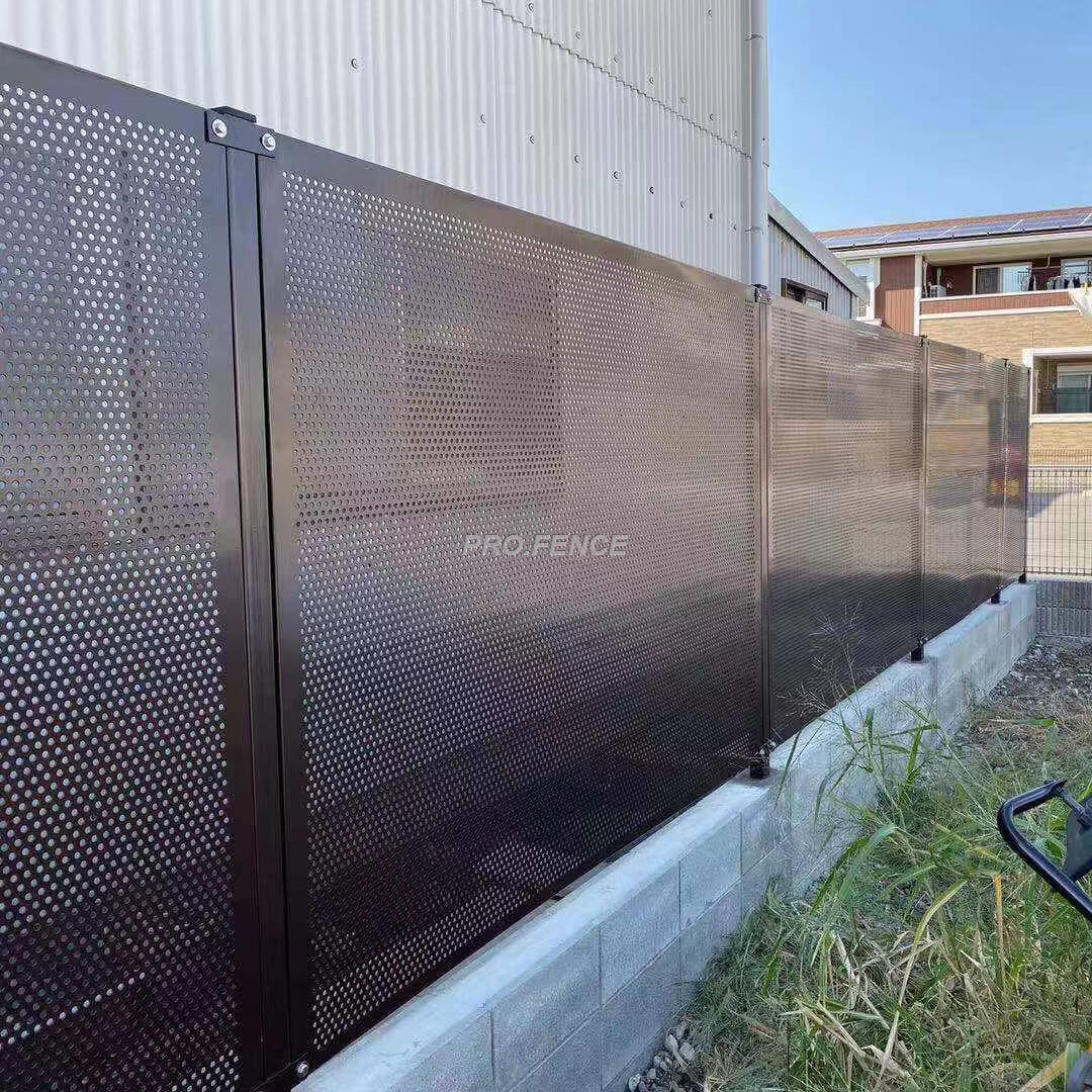 Perforated-metal-sheet-fence